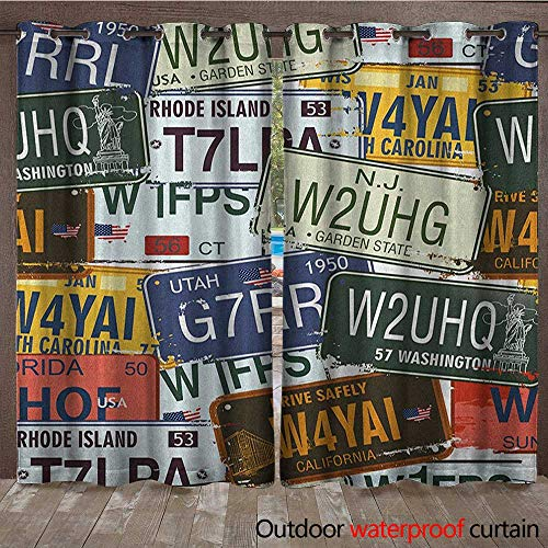 Vintage Outdoor Door Curtain Original Retro License, used for sale  Delivered anywhere in USA