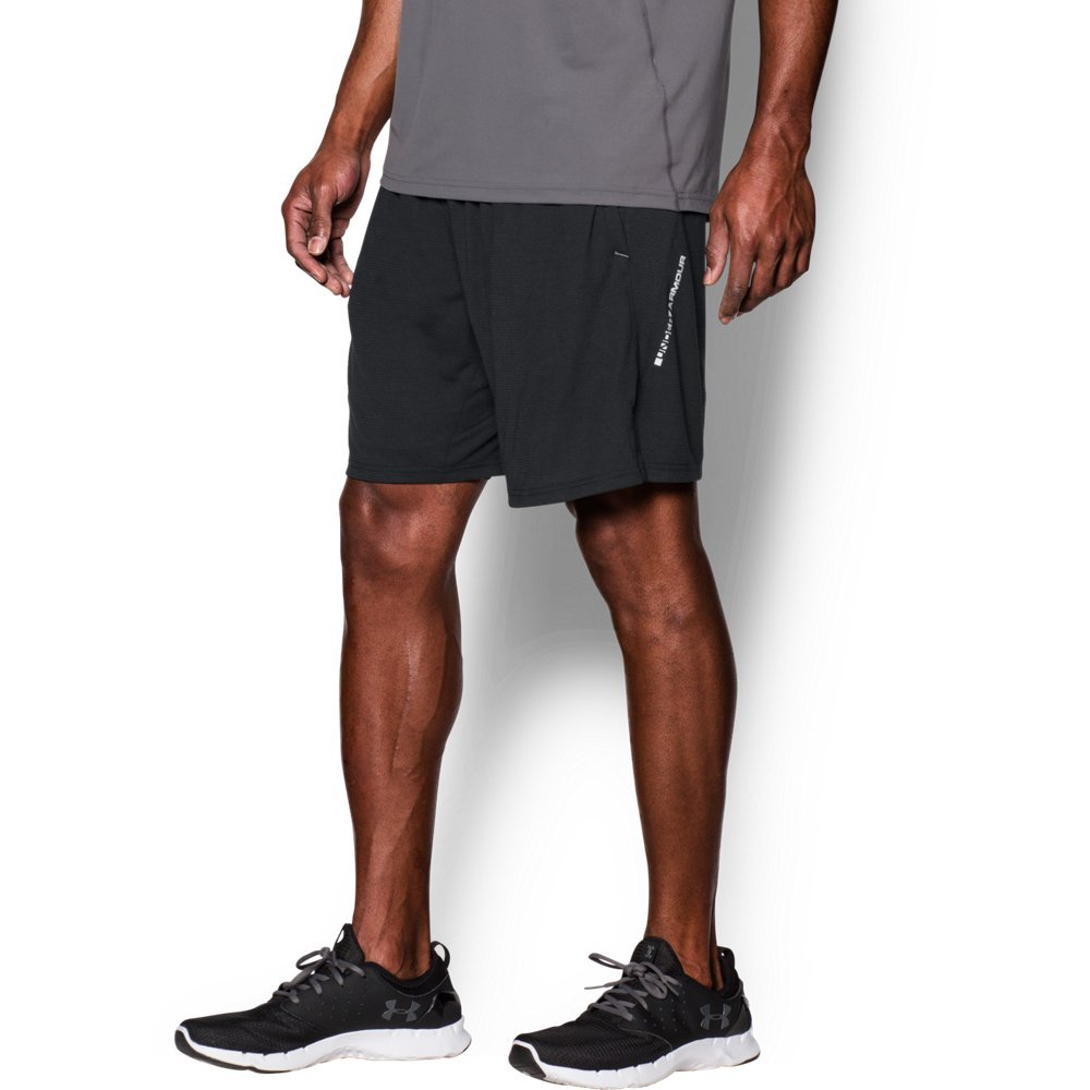 Under Armour Men's Streaker Run Shorts, Black (001)/Reflective, Small
