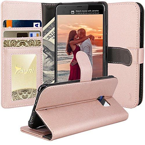 HTC U Ultra Case, TAURI [Stand Feature] Wallet...