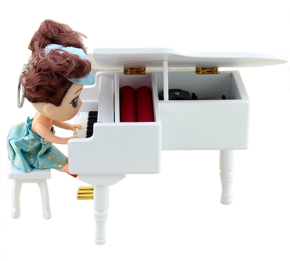 Happy Birthday Piano Music Box – Clockwork Mechanical Piano Music Jewelry Box Classical Sweet Gift (Happy Birthday)