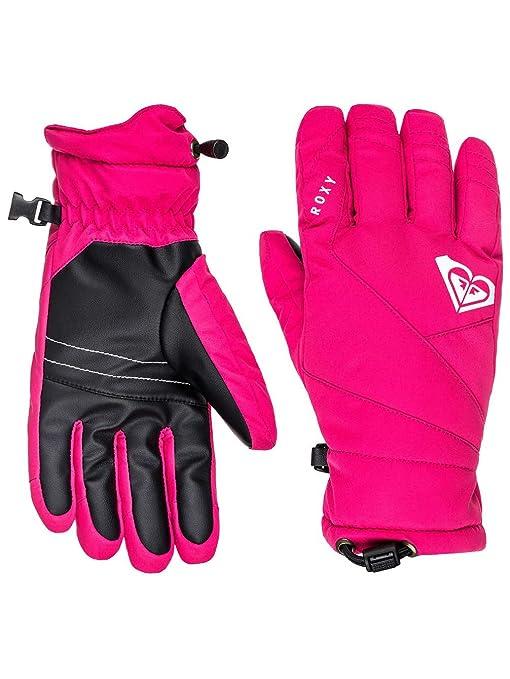 45e51900d53 Roxy Popi de la niña T Sg bnz0 nieve guantes Rosa Bright Rose L ...