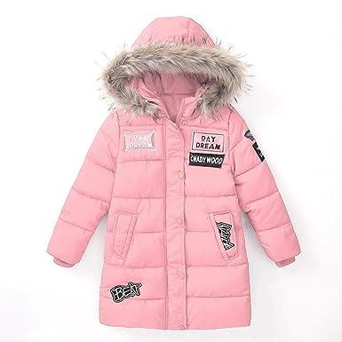 Serface Daunenjacke Mädchen Kälteschutz Jacke in Daunenoptik