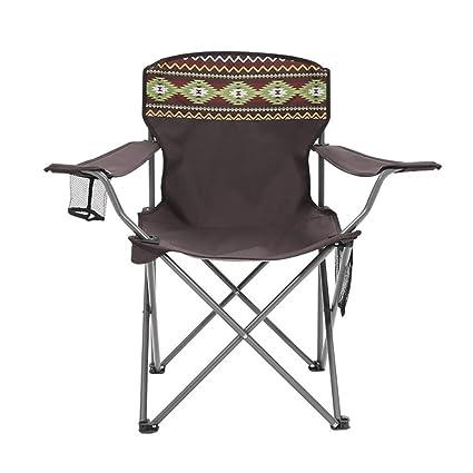 Amazon.com: Silla de acampada ergonómica con respaldo alto y ...
