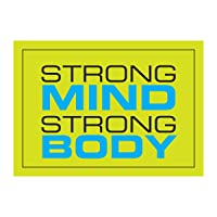 Fitnus Chart Series Strong Mind Strong Body Inspirational Poster Green/Black/Blue 18