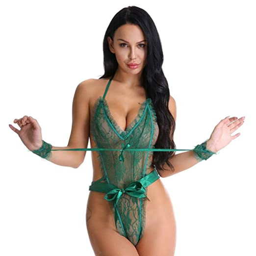 36d875f00 Mnyycxen Bodysuit Lingerie for Women Sexy Corset with Straps Lace Teddy  Babydoll (one Size