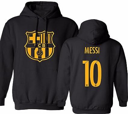 newest 46973 774f2 KING THREADS Barcelona Soccer Shirt Lionel Messi #10 Futbol Jersey Men's  Hooded Sweatshirt