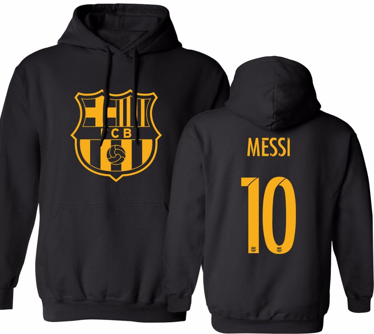Barcelona Soccer Shirt Lionel Messi #10 Futbol Jersey Youth Hooded Sweatshirt