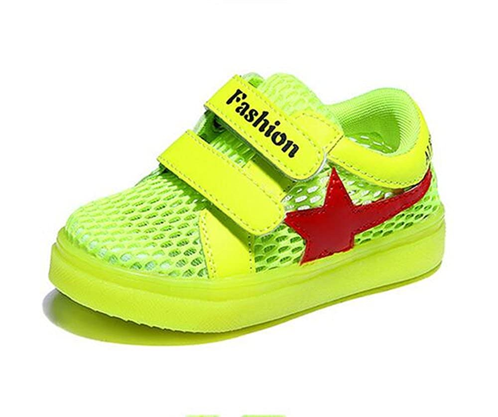 A2kmsmss5a Kids LED Light Up Shoes Kids Fashion Sneakers Sports Loafers