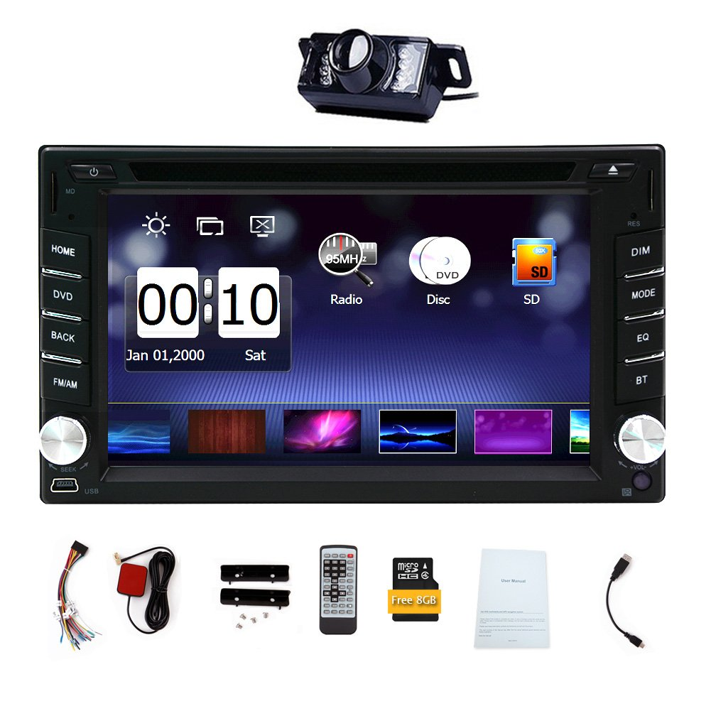 DVD Player Autoradio Multimedia Automotive Parts 3D GPS CD Auto Radio Electronics 2 Din in Dash MP3 Music Headunit Car Stereo in Deck Car Video Logo Back ...