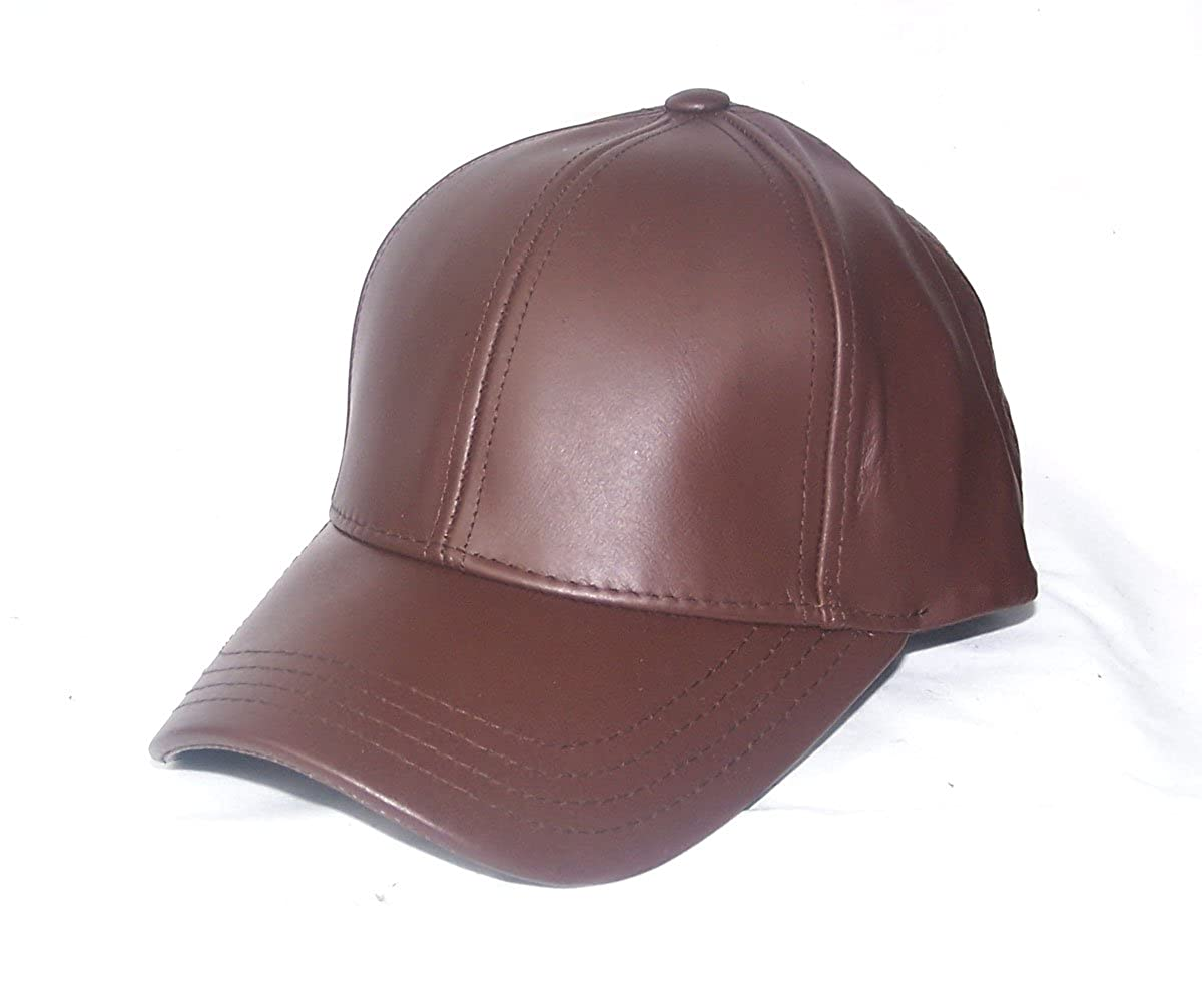 Premium Leather Dark Brown Baseball Hat Cap at Amazon Men s Clothing store   Leather Baseball Caps Men e276a8a426d7