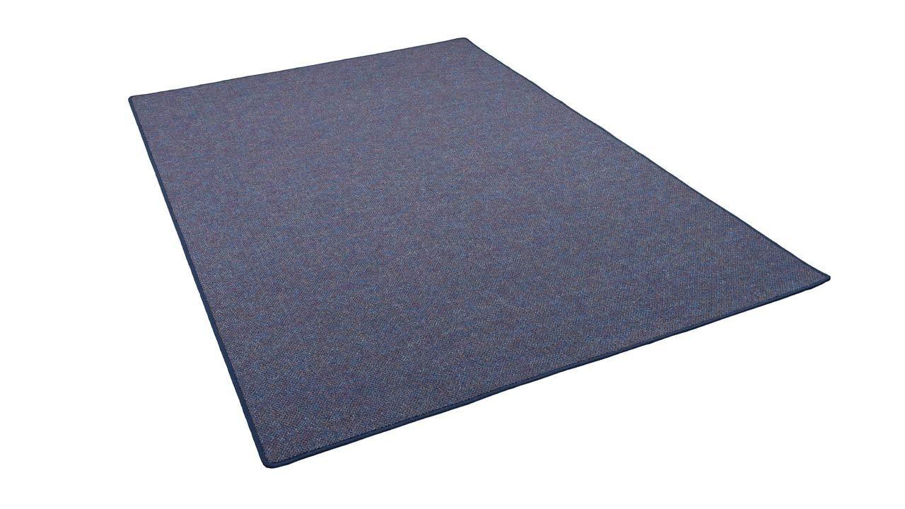 Snapstyle Schlingen Teppich Alma Blau Meliert in 24 Größen