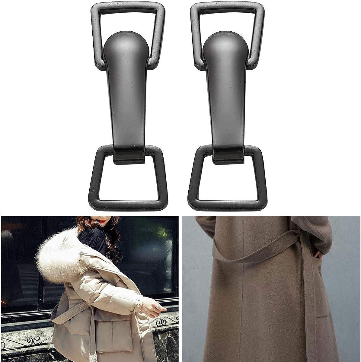 inlzdz 2 Paires Fermoirs /à Boucle Ceinture en Alliage de Zinc Attache Boutons D/écoratif Boucle De Fermoir pour Manteau Veste DIY Couture Accessoires