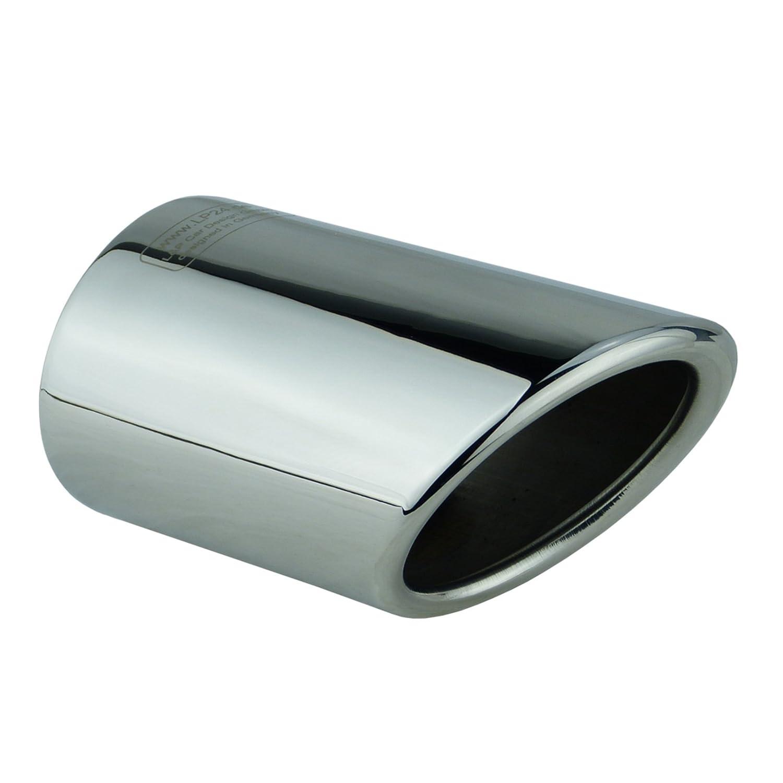 L&P A296 2 Auspuffblenden Auspuffblende Edelstahl spiegel poliert Plug&Play Chrom Endrohrblenden Endrohrblende Auspuff Blende Endrohre L&P Car Design GmbH