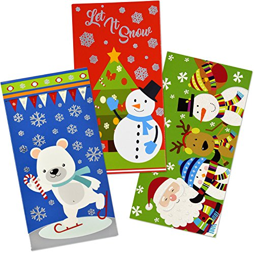 36 Christmas Gift Card Holder - Christmas Money Holder - Christmas Greeting Cards with Envelopes Bulk Assorted in 3 Holiday Cute Festive Designs with Hot Stamped Foil Winter Holiday Cards Box Set Photo #8