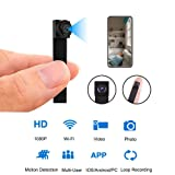 Mini WiFi DIY Camera 1080P Wireless Hidden Camera Small Nanny Cam with Motion Detection Home Security Recording Remote View Indoor Outdoor Using