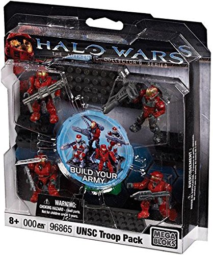 Halo Wars Mega Bloks Set #3 UNSC Red Combat Unit Contains 4 Mini Figures!