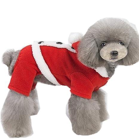 Eyxia- Pet Master Perro Gato Navidad Traje de Papá Noel ...