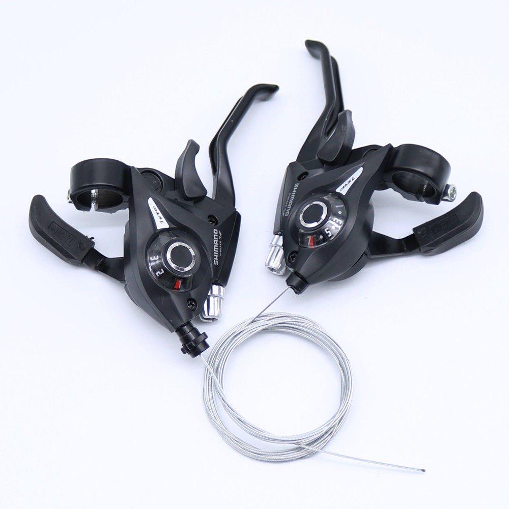 21 Speed Black V-Brake e5e10 Shimano ST-EF51 Set 3 x 7 Shifter//Brake Lever Combo