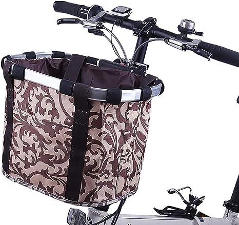 EEKUY Cesta Plegable Bicicletas, Lona Impermeable Frente de la ...