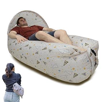 KKG® - Saco de dormir hinchable para cama o cama, con tejido de nailon