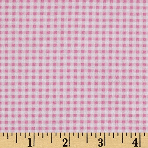 Mook Fabrics Gingham Flannel Fabric, Pink, Fabric By The Yard - Gingham Flannel Fabric