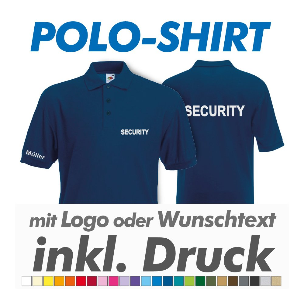 best service 7ac06 a5268 Polo Shirt, navy, Fruit of the Loom, inkl. Ihrem Wunschtext ...