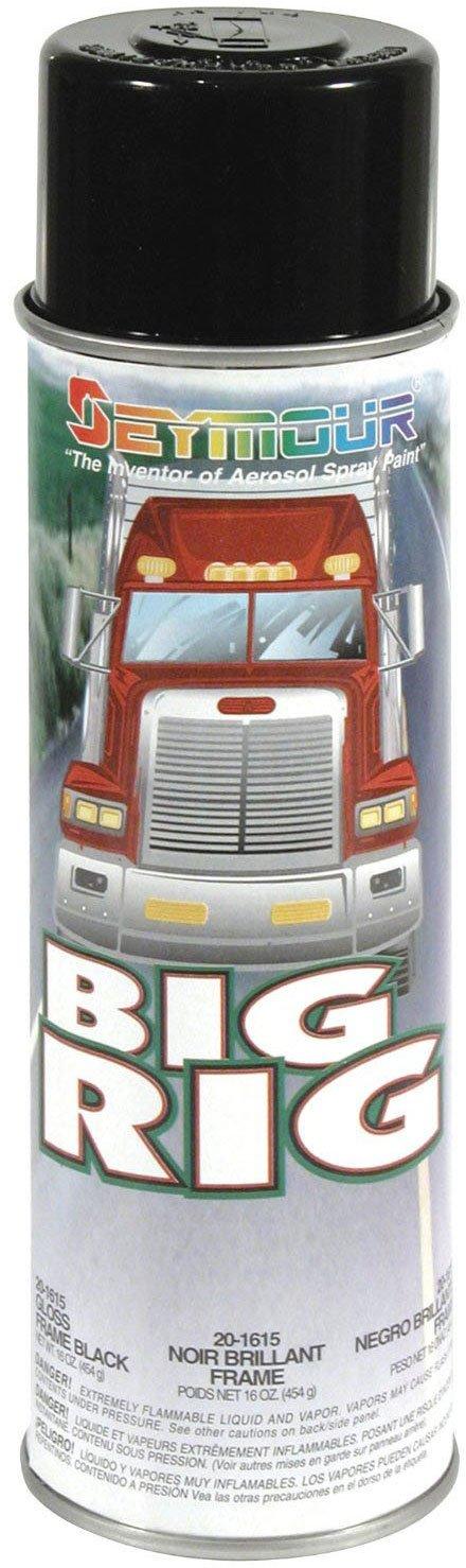 Seymour 20-1615 Big Rig Professional Coatings Spray Paint, Gloss Frame Black