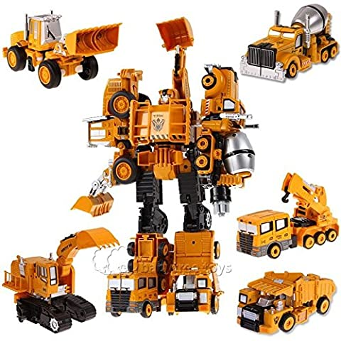 Nicky's Gift LanLan New Transformers Action Figure Diecast Trucks Toys 5 in 1 - Rampage Air