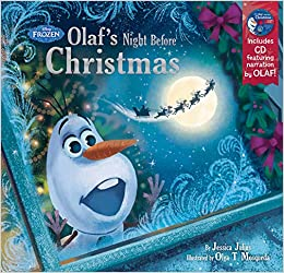 Frozen Olaf's Night Before Christmas Book & CD: Disney Book