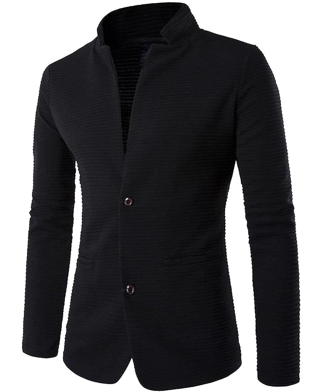 3985a5d6995a lovely Zago Men s Wild Mandarin Collar Blazer Two-Button Suit Blazer ...