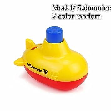 4pcs Rubber Watercrafts Bathtime Bath Toy Water Spraying Boats Kids Toddlers