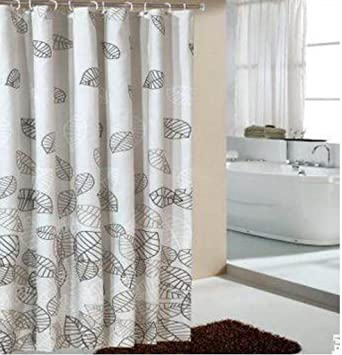 GYMNLJY Polyester Fiber Waterproof Mildew Thick Shower Curtain Room Blackout Bath Cut Off
