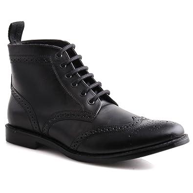 Amazon.com   Unze Mens Leather 'Taylor' Lace Up Brogue Ankle Boots ...