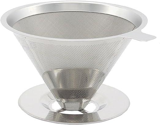 Sin Papel vierta sobre cafetera eléctrica 304 Acero inoxidable ...