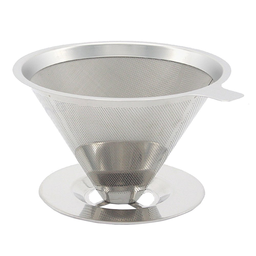 Coffee Filter ,AIYoo Stainless Steel Drip Cone Coffee Filter Pour Over Coffee Maker - Paperless & Reusable Coffee Cone Dripper ,Premium Filtration Coffee Dripper Single Cup Lemeijia LJ-067-1cup
