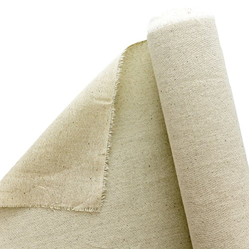 U.S. Art Supply 63' Wide x 6 Yard Long Canvas Roll - 100% Cotton 7 Ounce Un-Primed Artist Painting