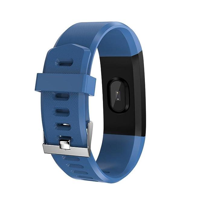 Bellelove Femmes Hommes Intelligent Électronique Poignet Gadgets Smart montre Bande Sommeil Sport Fitness Podomètre Bracelet Montre avec Coloré UI (Bleu): ...