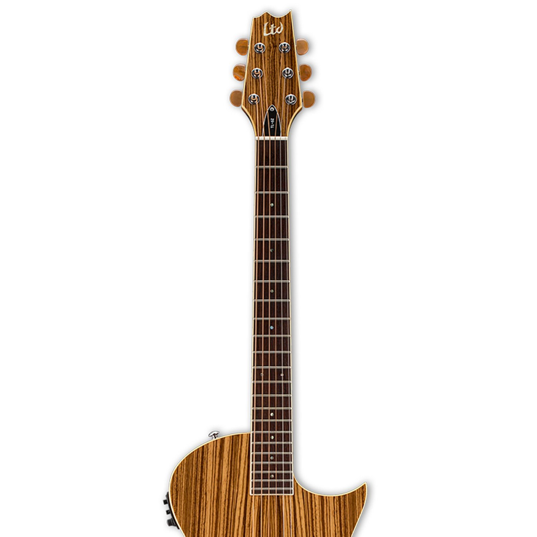 ESP LTL6ZNAT Semi-Hollow-Body Electric Guitar, Zebra Wood Natural