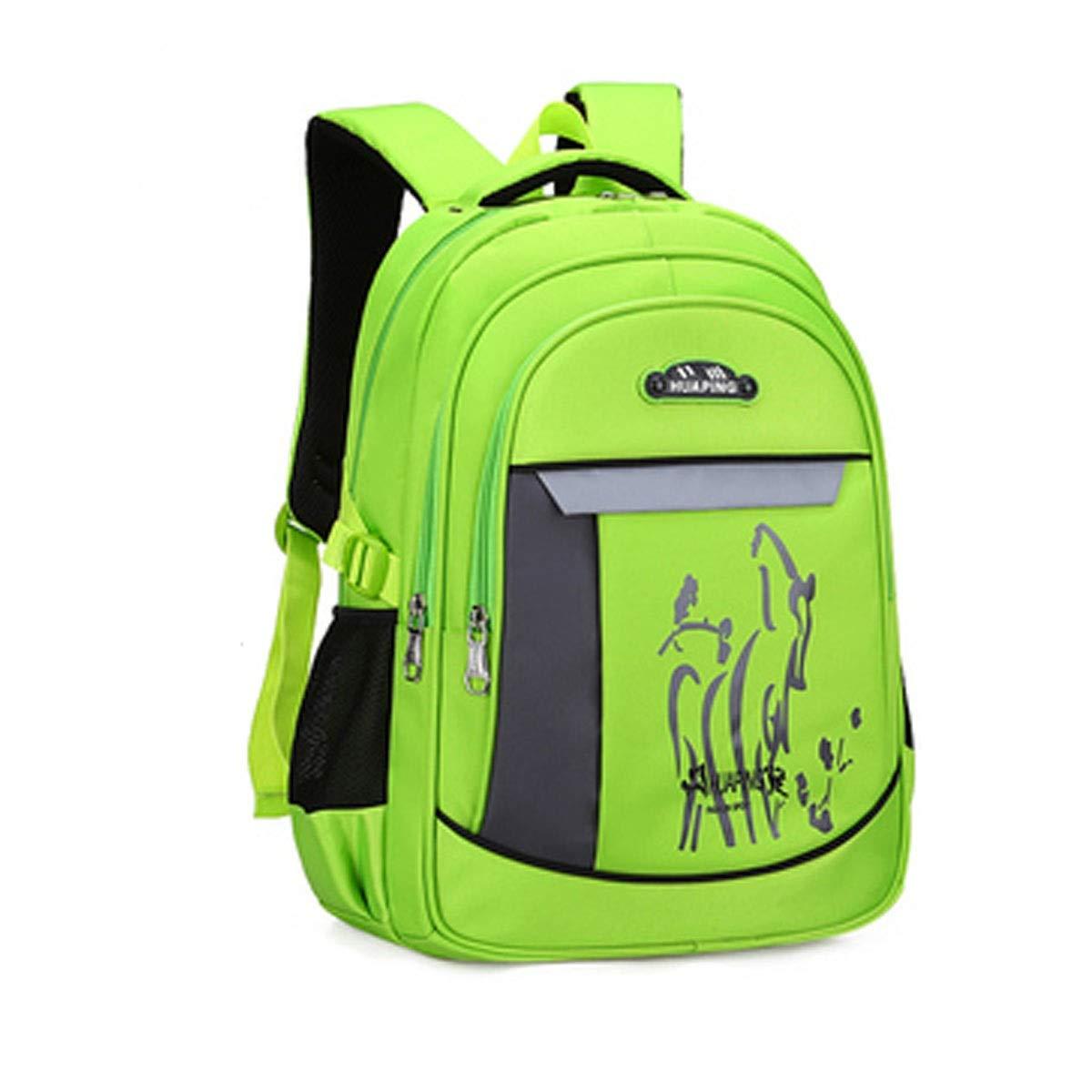 Borsa da scuola, borsa da studente, zaino impermeabile resistente all'usura, adatto per studenti di grado 1-9, 46  32  20 cm, multi-colore opzionale