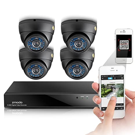 Funlux ® 8CH 960H, DVR Video-Kit de vigilancia exterior 4 cámaras de alta