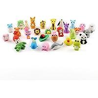 Cusfull 30 - Lote de 30 gomas de borrar en forma de animales para niños, multicolor, 17,317,34,8