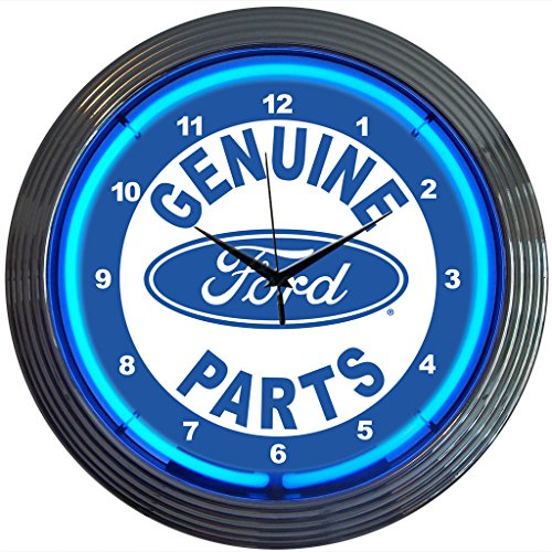 Neonetics Ford Genuine Parts Neon Wall Clock, 15-Inch