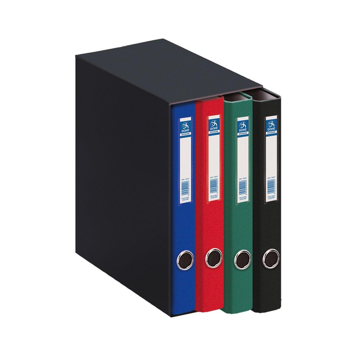Dohe Oficolor - Módulo, 4 carpetas, folio, multicolor: Amazon.es: Oficina y papelería