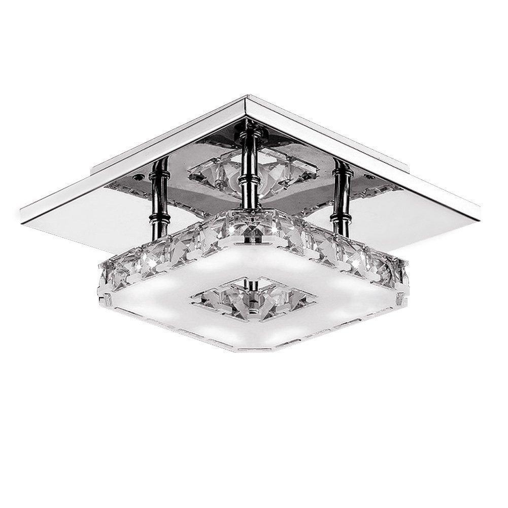 12W Kristall LED Deckenleuchte Azerogo Moderne Deckenlampe Deckenbeleuchtung Wohnzimmer Leuchte Badlampe Lampe Leuchte Wohnzimmer Weiß [Energieklasse A++] 9a1aa5