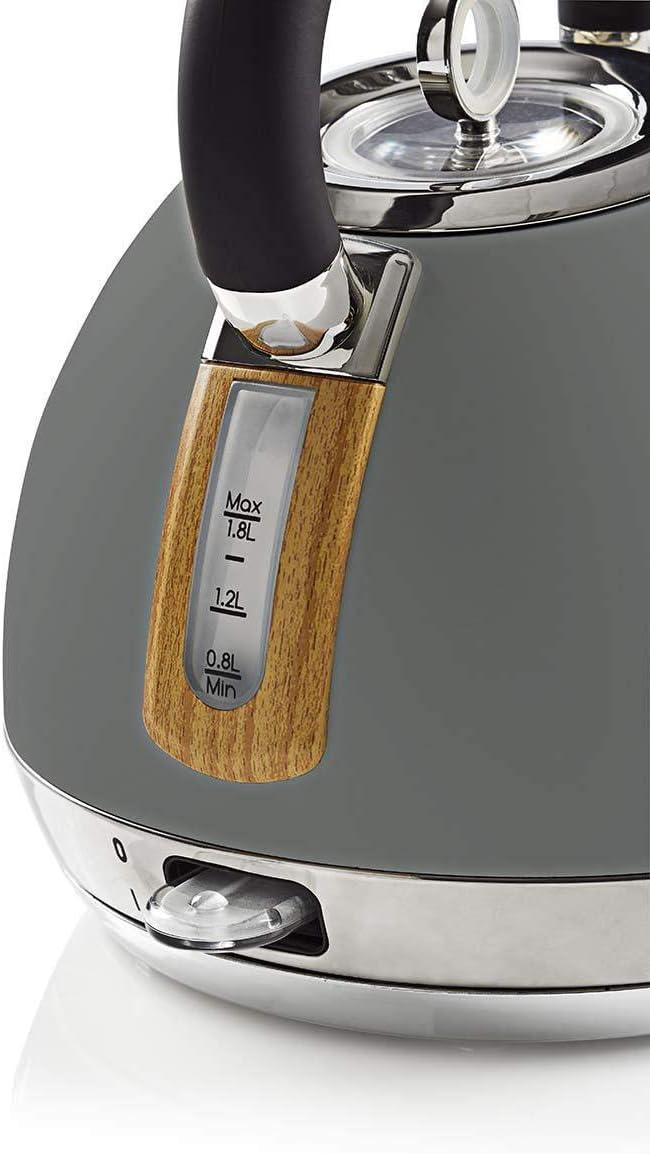 NEDIS 1,8 L Suave al Tacto Hervidora El/éctrica Protecci/ón contra el Funcionamiento en Seco Filtro Antical Blanca