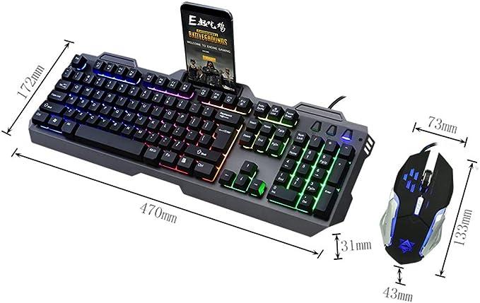 Combo de teclado y mouse para juegos táctiles blandos ...