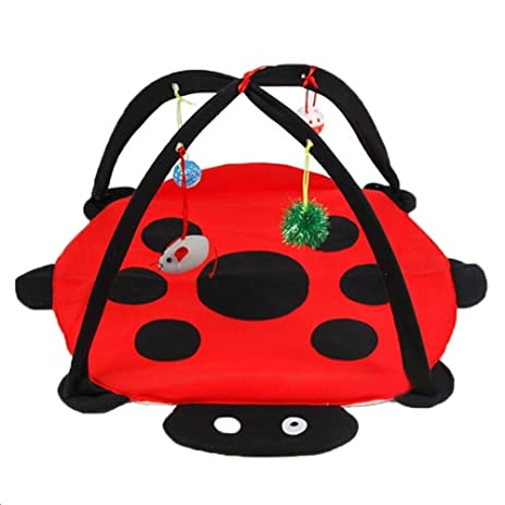 vellhater foldable living pop up play cube cat hammock scratcher beatle tent black red amazon     vellhater foldable living pop up play cube cat      rh   amazon