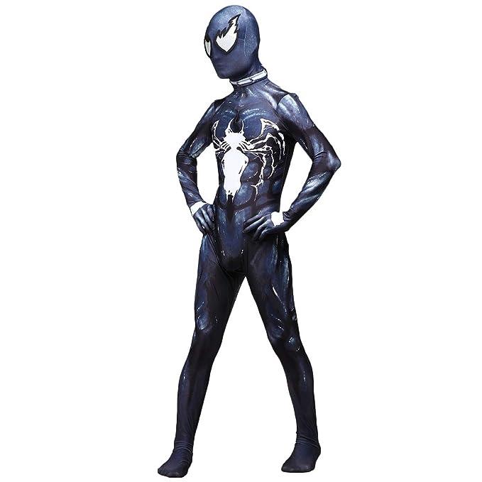QQWE Venom Symbiote Spiderman Cosplay, Disfraz de Disfraz de Venom ...