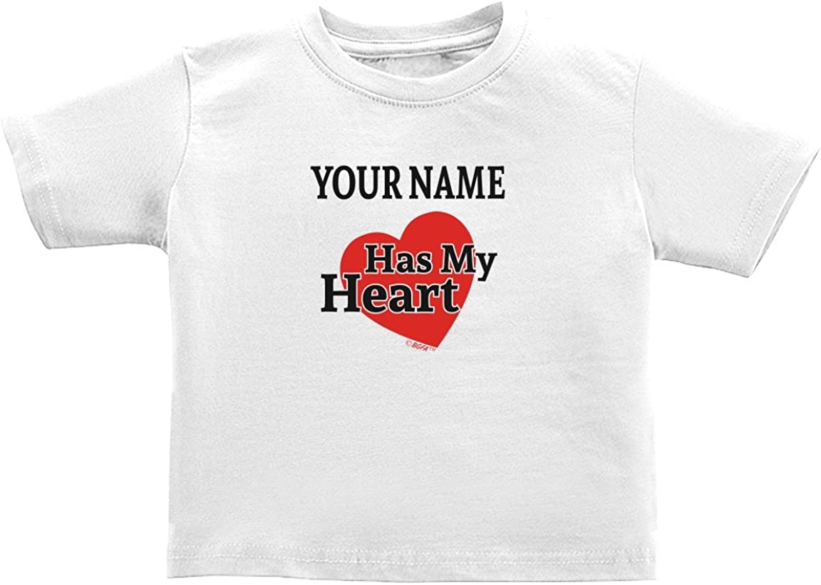 Baby Gifts For All Personalized Add Name Has Heart Custom Toddler Juvy T-Shirt