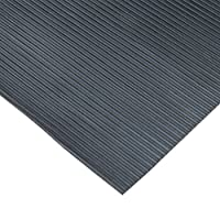 """Rubber-Cal 03_167_W_RC_20 Ramp Cleat Non-Slip Outdoor Rubber Floor Mats, 1/8"""" Thick x 3"""